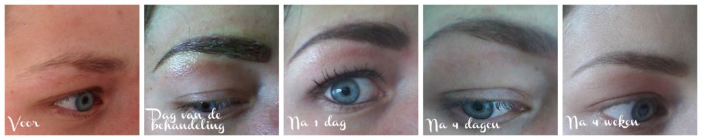 shading brow -permanente make-up wenkbrauwen