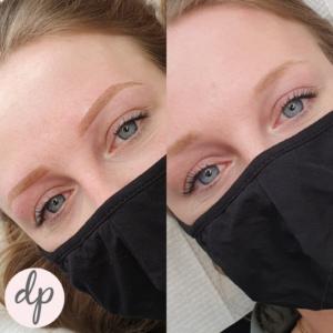 jonge vrouw powderbrows lichte huid