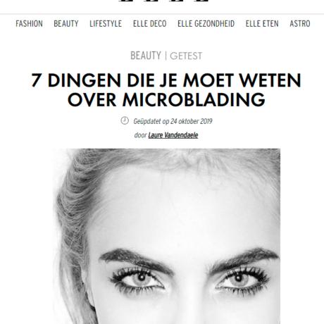 Dermatopigmentatie artikel Elle magazine