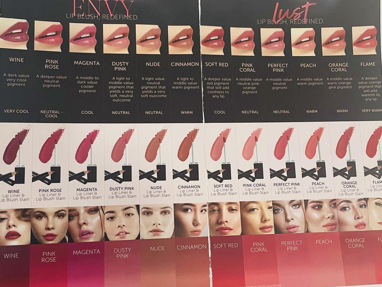 Dermatopigmentatie beschikbare kleuren lippen permanente make-up