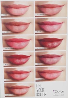 Dermatopigmentatie kleuren voor lippigmentatie