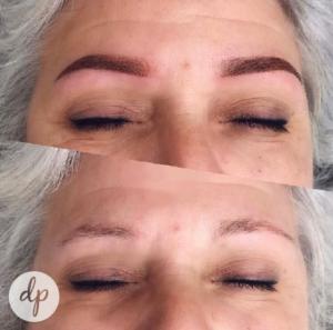 Dermatopigmentatie chabeli powderbrows older woman